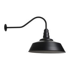 Steel Lighting Co.   Outdoor Barn Lighting , The Redondo Farmhouse Light,  Matte Black