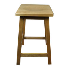 Mission Wooden Bar Stool Solid Cherry Wood Natural Stain 30-inch
