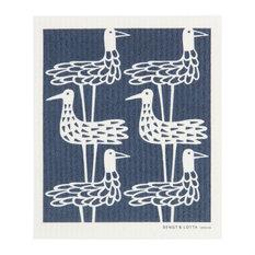 Swedish Dishcloth, Shore Bird, Dark Blue