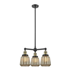 Innovations Chatham 3-Light Chandelier, Black Antique Brass