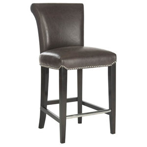 Seth Counter Stool in Espresso and Antique Brown