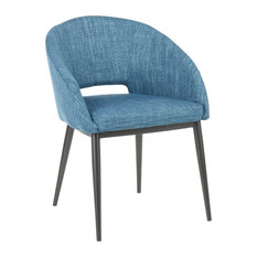 Renee Contemporary Chair Blue Fabric