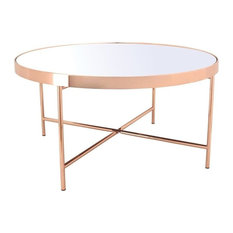 Xander Copper Coffee Table With Mirror Top Big