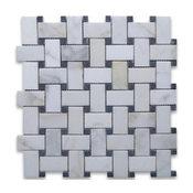 "11.75""x11.75"" Calacatta Gold Italian Calcutta Marble Polished Versailles Tile"