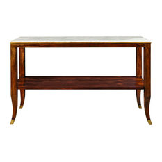 Mahogany French Console With Marble