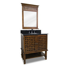 "Lyn 32"" Bath Elements Vanity, With Mirror"