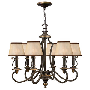 Plymouth Classic Chandelier, 6 Lights