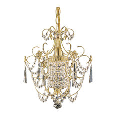Century 1-Light Chandelier in Rich Auerelia Gold With Clear Heritage Crystal
