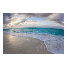 Beach Sunlight through Clouds Wallpaper Wall Mural, Self-Adhesive