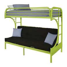 Eclipse Futon Bunk Bed, Green, Twin Over Full