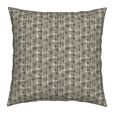 Cream Neutral Beige Chocolate Brown Geometric Throw Pillow Velvet