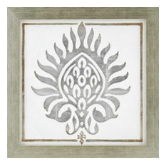 Paragon Geometrics Contemporary Brocade in White I Wall Art
