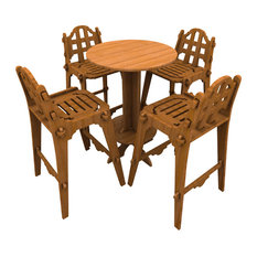 Palladian Bamboo Bar Set With Chairs And High Top Table By GWC Design Inc.