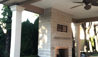 Covered Porch Addition with fireplace