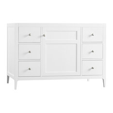 "Ronbow Briella Solid Wood 48"" Vanity Cabinet Base, White"
