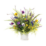 Pansy and Wildflower Silk Flower Centerpiece
