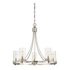 5-Light Chandelier, Brushed Nickel