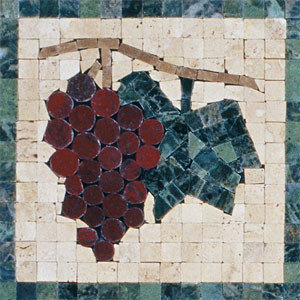 Classic Grapes Mosaic Insert - Tile