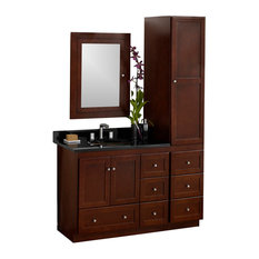 "Ronbow Shaker Solid Wood 36"" Vanity Set With Ceramic Sink and Medicine Cabinet"