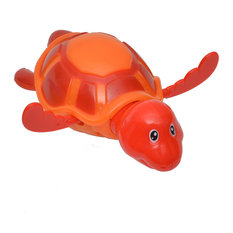EVIDECO   Funny Wind Up Swimmer Turtle Bathtub Baby Toy Red Orange, Orange  Red