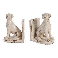 """Bruno Dog Bookends, 6.1""""x4.3""""x8.3"""""""