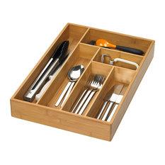 Bamboo Kitchen Drawer Divider, Large