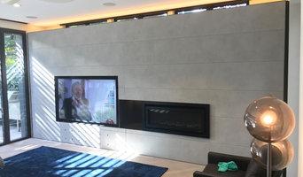 Concrete media wall