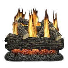 "Kozy World GLV030 Vented 30"" Natural Gas Legacy Oak Log Set 65,000 BTUs"