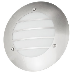 Circular Stainless Steel Outdoor Wall Light