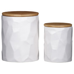 Contemporary Kitchen Canisters And Jars by Urban Trends Collection