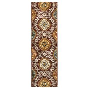 "Oriental Weavers Sedona 6366A Red/Gold Oriental Area Rug, 2'3""x7'6"""