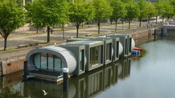 Hausboot Schwan Hamburg Ansicht von Brücke
