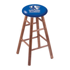 Maple Counter Stool Medium Finish With Eastern Illinois Seat 24-inch
