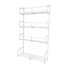 KV Door Mount 4-Tier Spice Rack, White, 10.75""