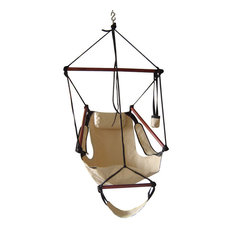 Adjustable Hanging Hammock Chair With Foot Rest, Green