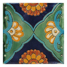 2x2 36 pcs Green Sea Talavera Mexican Tile