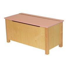 Emma Natural Wood Toy Box, Pink
