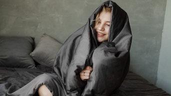 Утяжеленное одеяло 140*200 см, цвет пододеяльника - графитовый