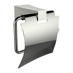 Brass Constructed Toilet Paper Holder, Chrome