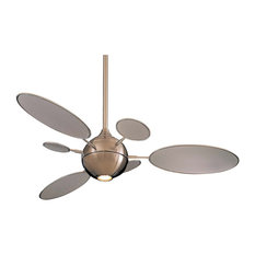 Most popular midcentury modern ceiling fans for 2018 houzz minka aire minka aire f596bn cirque brushed nickel 54 ceiling fan ceiling fans aloadofball Images