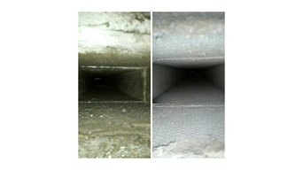 Air duct cleaning before and after picture