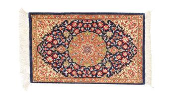 クム シルク 絨毯 30x40
