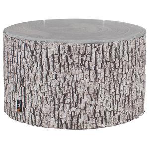 Tree Stump Heavyweight Pouffe/Coffee Table, Ash