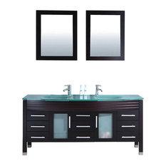 Figi Single Sink Bathroom Vanity Set, Espresso, 71''