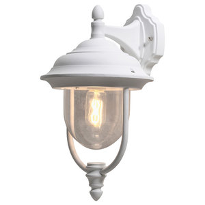 Parma Outdoor Down Wall Light, Matte White