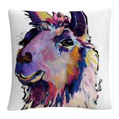 "Pat Saunders-White 'Fabio' 16""x16"" Decorative Throw Pillow"