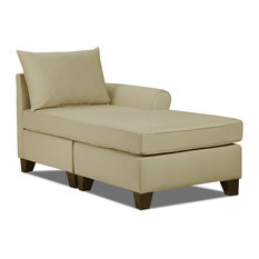 Carolina Accents   Belle Meade Right Arm Chaise, Khaki   Sectional Sofas