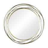 Extra Large Round Antique Gold Mirror 92cm x 92cm