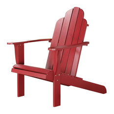 Red Adirondack Chair, 30.4W X 37.6D X 37.8H, Red
