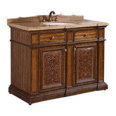 "Legion Furniture - 48"" Single Sink Bathroom Vanity, Light Walnut - Bathroom Vanities and Sink Consoles"